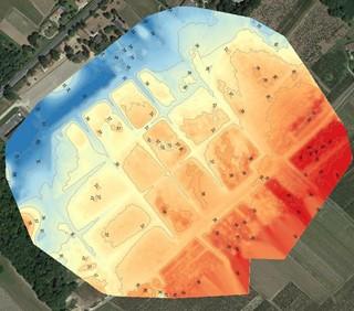 figure 6 carte du relief sur la zone